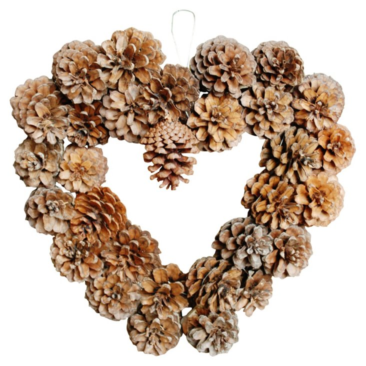 Heart Wreath, Pinecone
