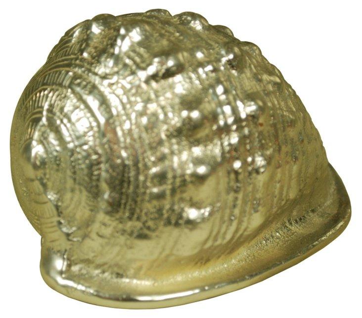 Metal Lampas Shell, Gold