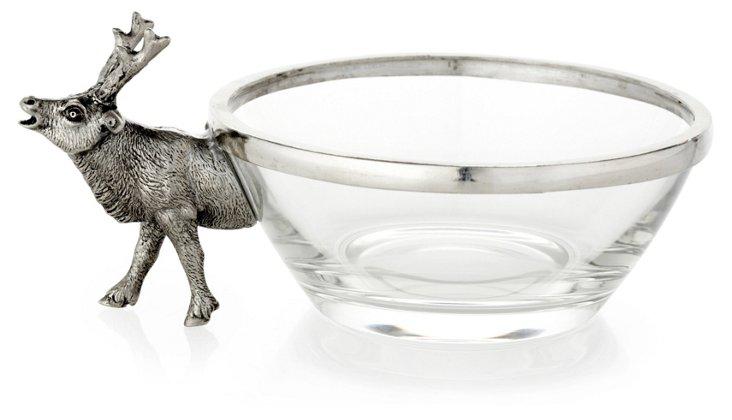 Glass Deer Bowl