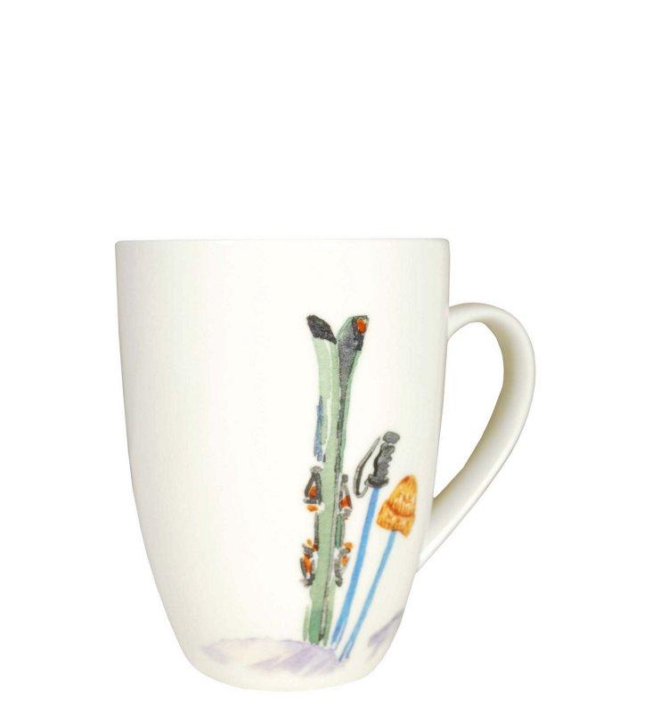 S/2 Ski Mugs, Green