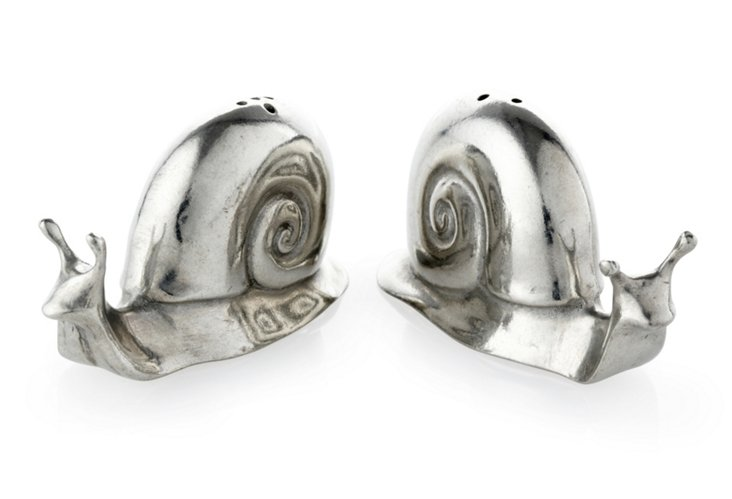 S/2 Snail Salt & Pepper Shakers