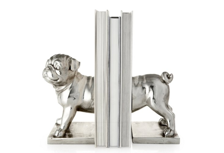 Pair of Pug Bookends