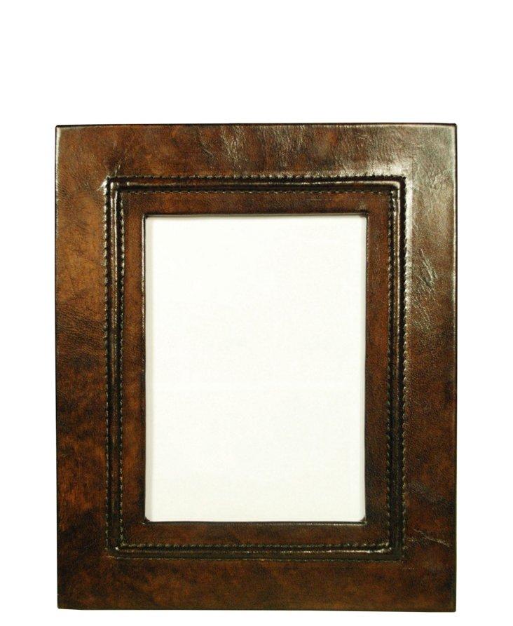 6x11 Dark Brown Leather Frame