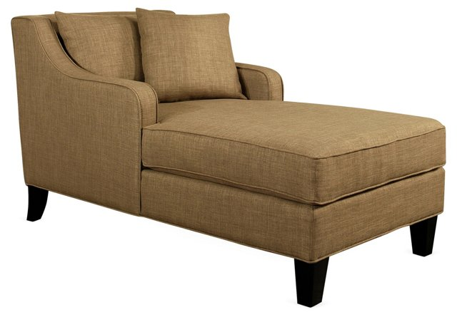 Andrew Linen Chaise, Taupe