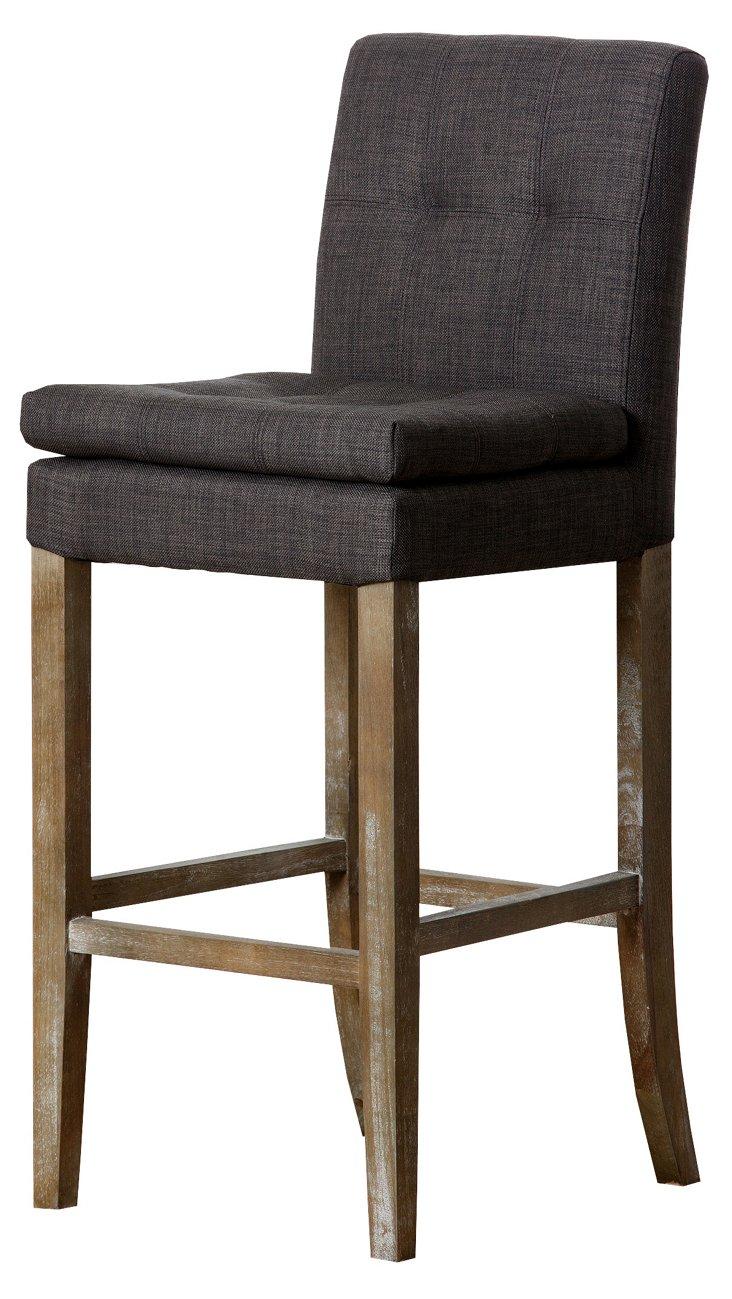 Chandler Linen Barstool, Gray