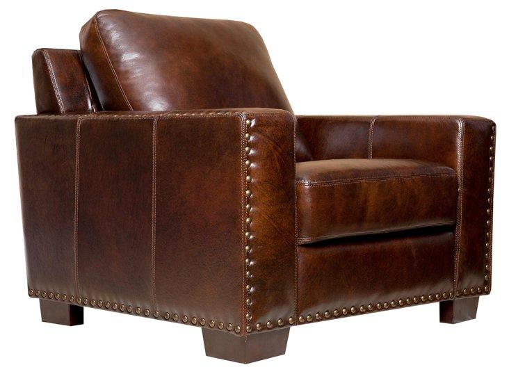 Marcus Leather Armchair, Espresso