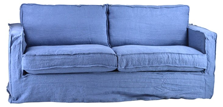 "Isla 80"" Sofa, Blue"