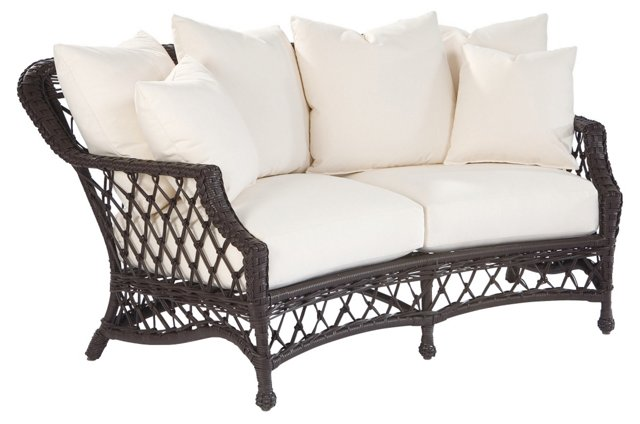 Camino Real Crescent Loveseat