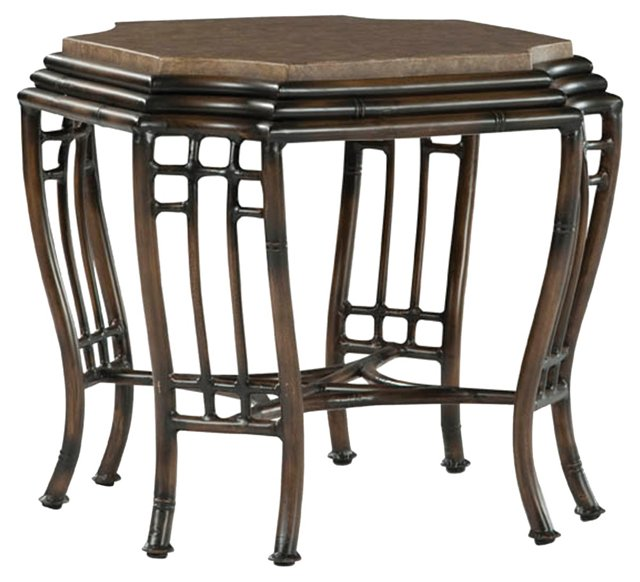 Shangri-La Side Table, Brown