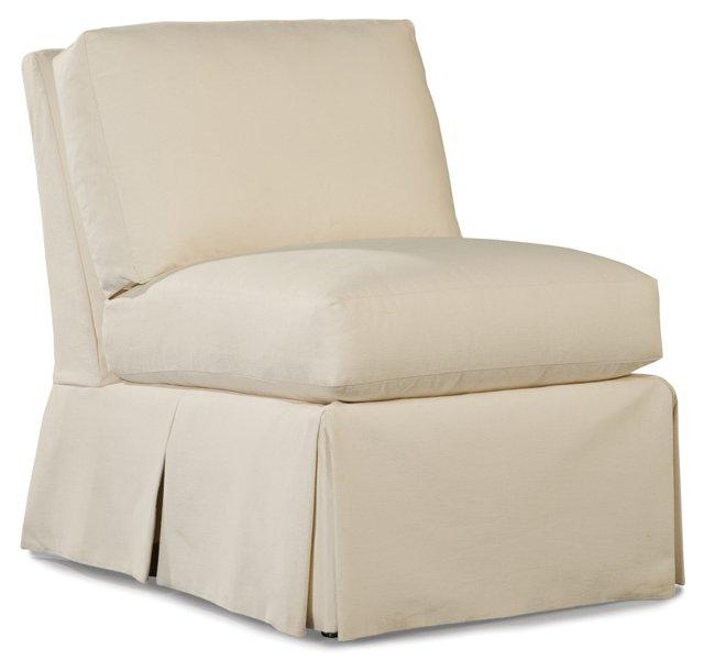 Harrison Armless Chair, White