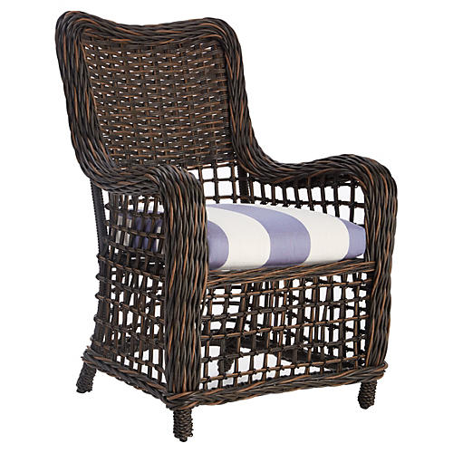Moraya Bay Side Chair, Periwinkle