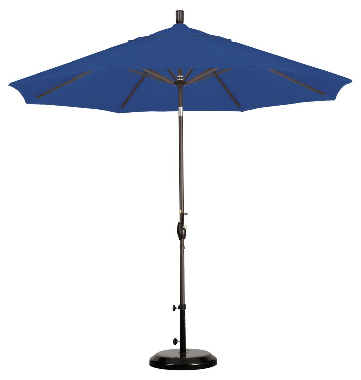 9' Market Umbrella, Bronze/Royal