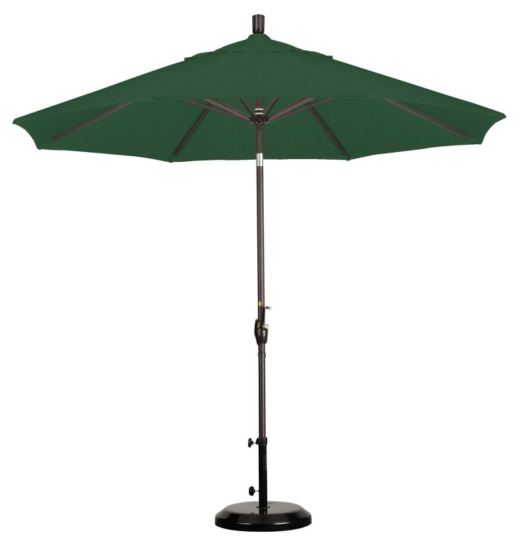 9' Market Umbrella, Bronze/Green