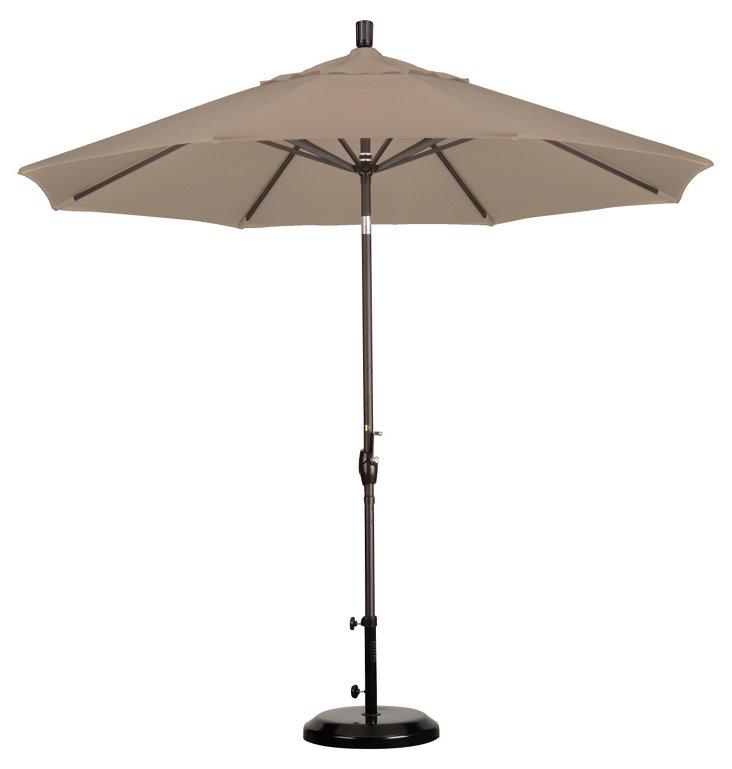 9' Market Umbrella, Bronze/Beige