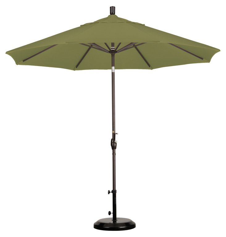 9' Market Umbrella, Bronze/Kiwi