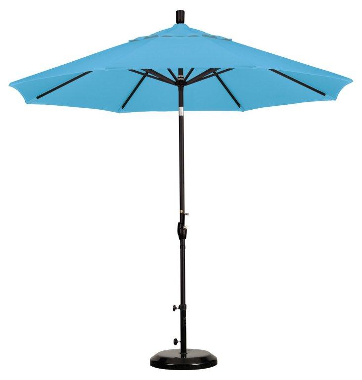 9' Market Umbrella, Frost Blue