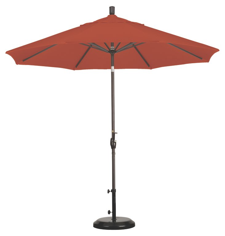 9' Market Umbrella, Bronze/Sunset