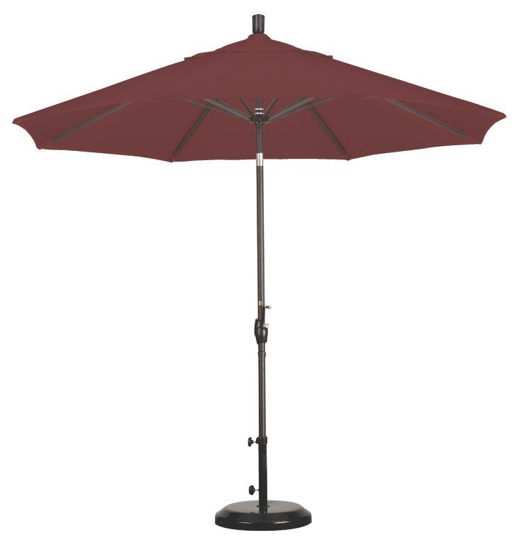 9' Market Umbrella, Bronze/Terracotta
