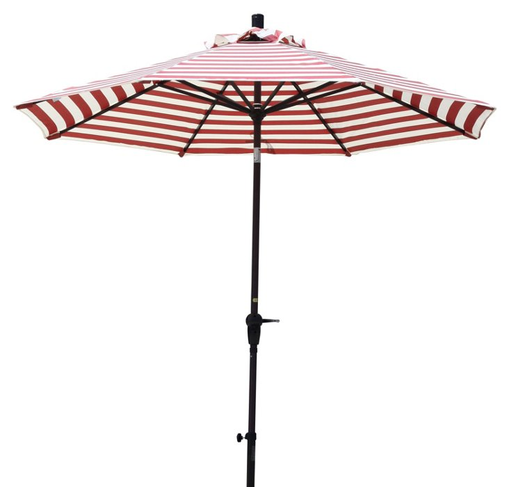 9' Market Umbrella, Red Stripe