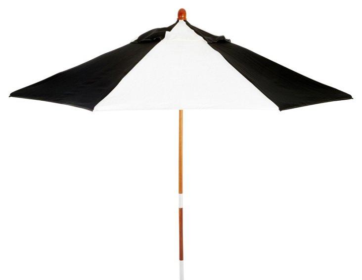 Miami Patio Umbrella, Wood/Black