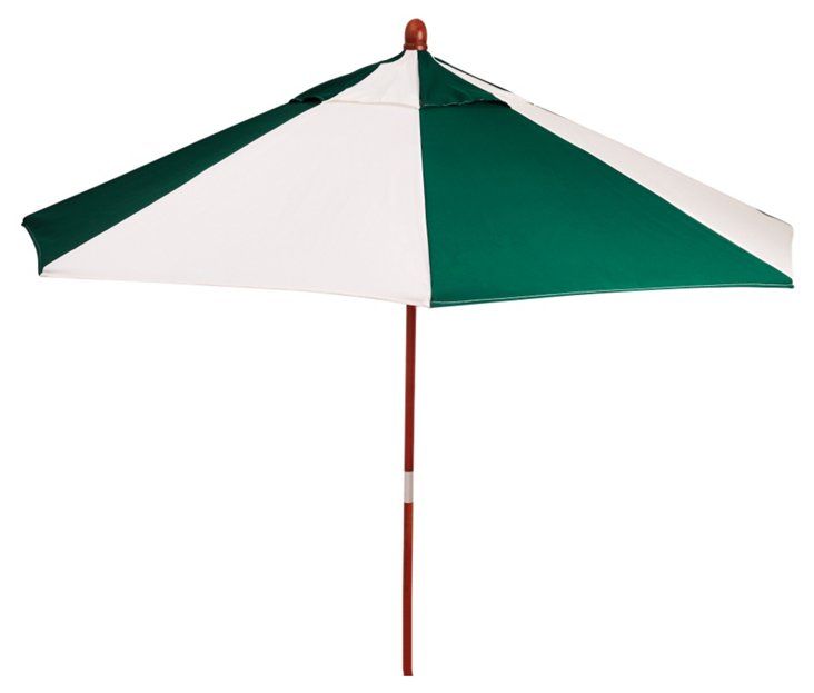 Miami Patio Umbrella, Wood/Green