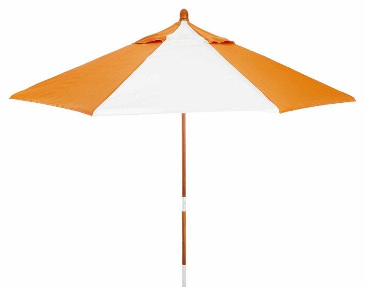 Miami Patio Umbrella, Wood/Tuscan