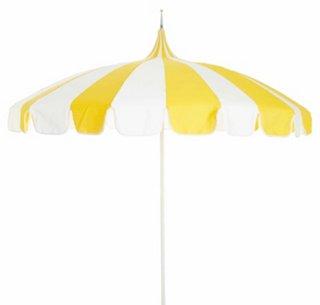 Pagoda Patio Umbrella, Yellow/White   Patio Umbrellas U0026 Stands   Outdoor  Furniture   Outdoor | One Kings Lane