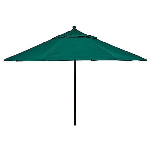 Veda Patio Umbrella, Green Sunbrella