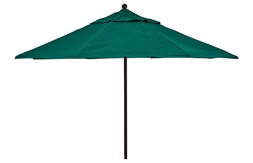 Veda Patio Umbrella, Green Sunbrella