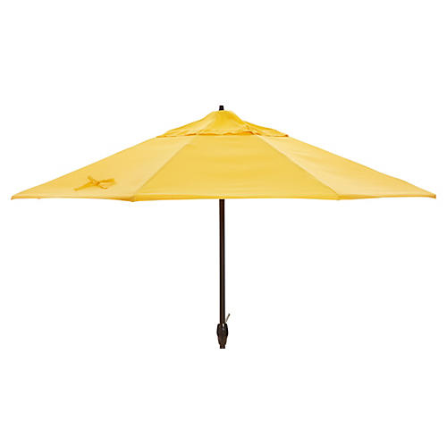 Veda Patio Umbrella, Yellow Sunbrella