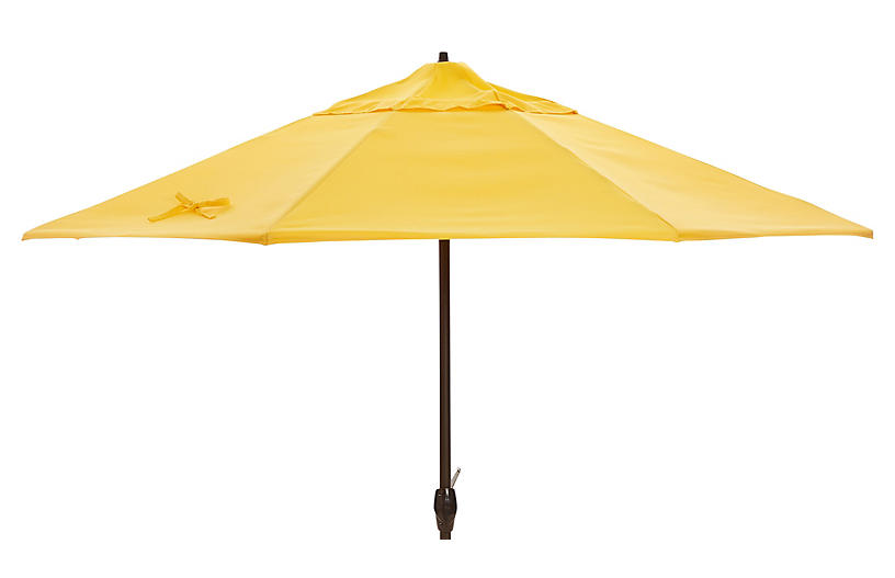 Veda Patio Umbrella, Yellow Sunbrella