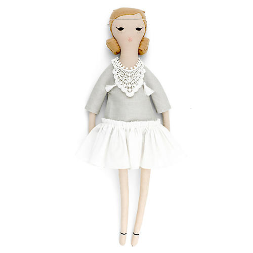 Sefora Toy Doll, Gray/White