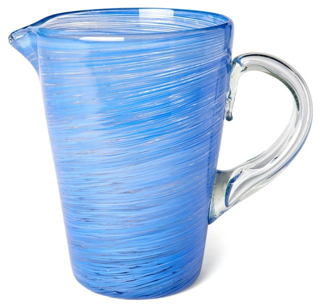 Blue Swirl Pitcher