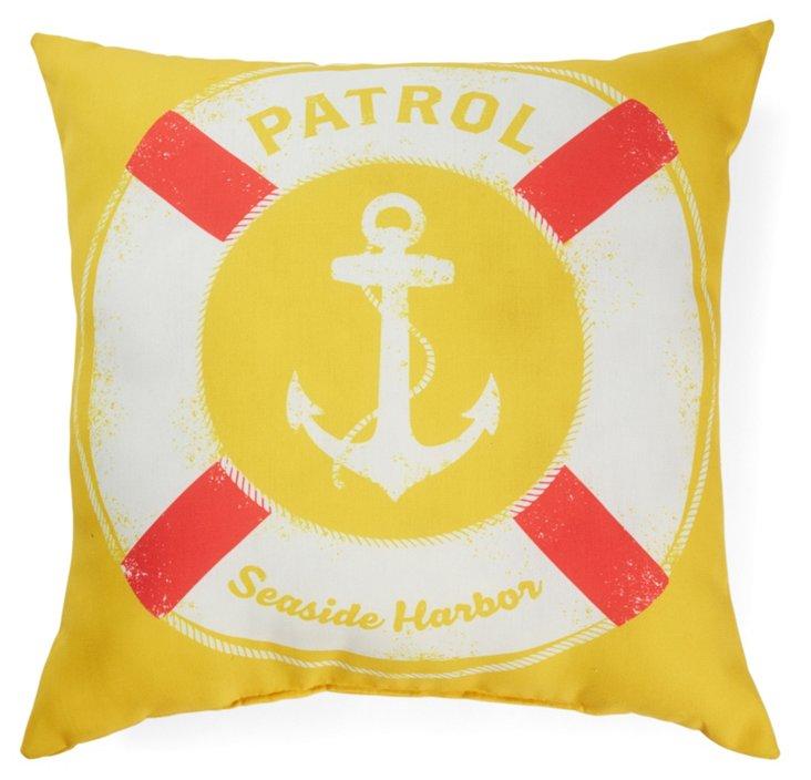 Patrol 20x20 Outdoor Pillow, Yellow