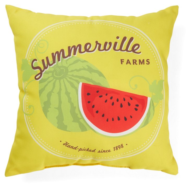 Summerville 18x18 Outdoor Pillow, Yellow