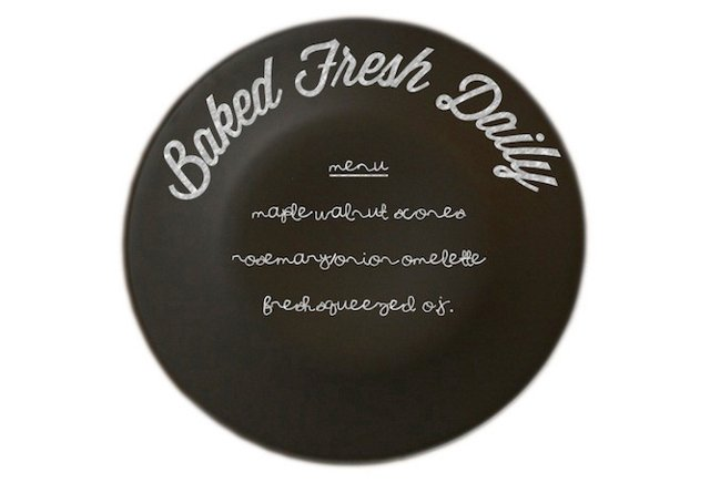 """""""Baked Fresh Daily"""" Plate, 10"""""""