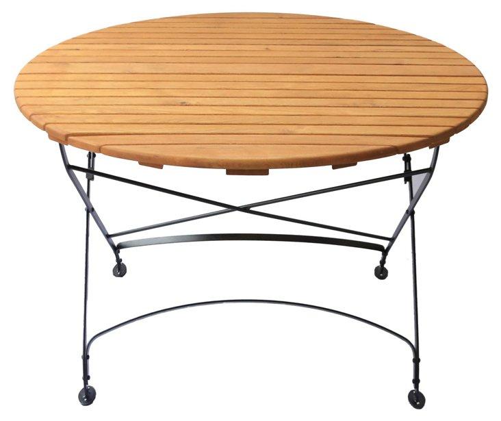 Rebecca Bistro Folding Table, Round