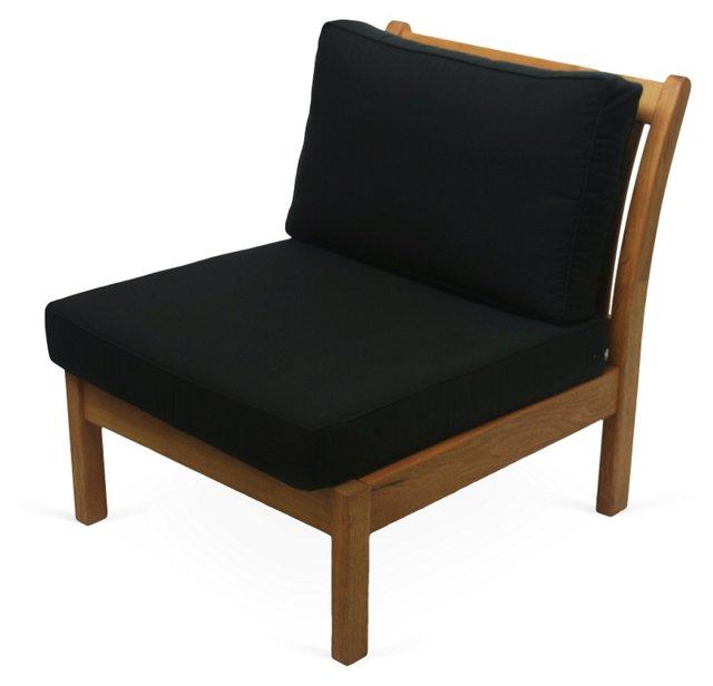Kamea Outdoor Armless Chair, Black