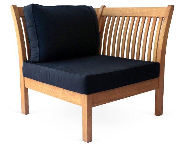 Kamea Outdoor Corner Chair, Black