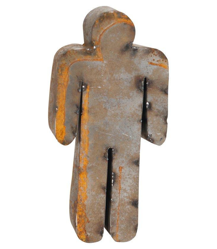 Backless Reclaimed Tin Man, Rust