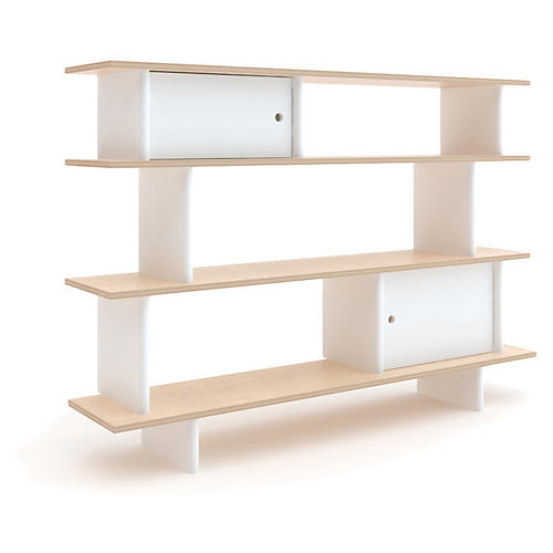 Mini Bookshelf, White/Natural