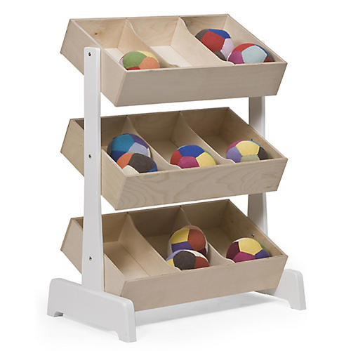 Toy Storage Unit, Natural/White