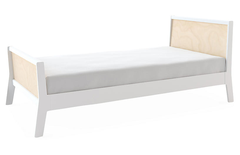 Sparrow Kids' Bed, White/Natural