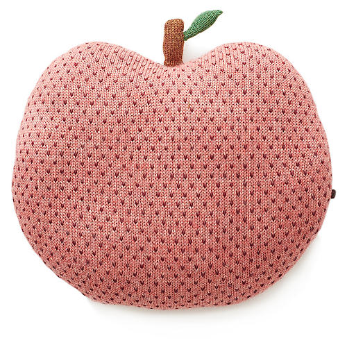 Apple Kids' Pillow, Rose/Burgundy