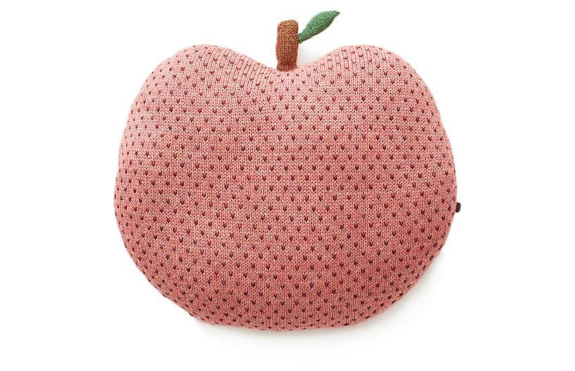Apple Kids' Pillow, Rose/Burgundy