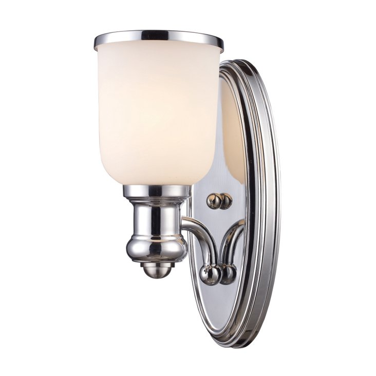 Brooksdale 1-Light Sconce, Chrome