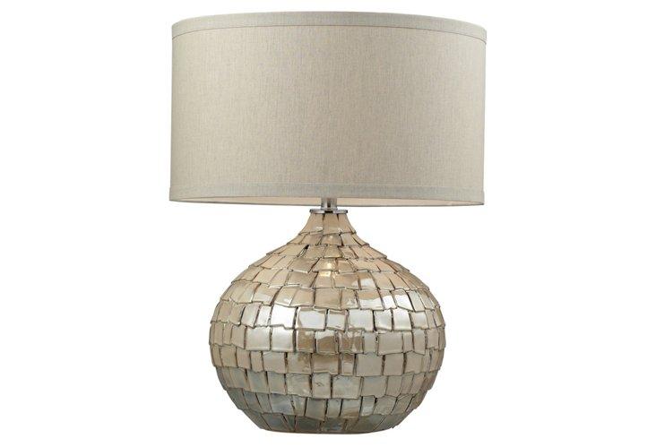 Canaan Table Lamp, Cream Pearl
