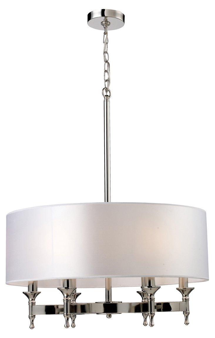 Bates 6-Light Chandelier, Chrome