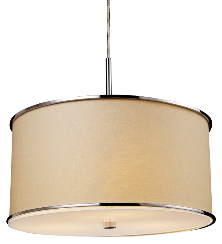 Beverly 3-Light Pendant, Chrome