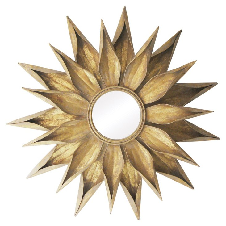 Summerset Wall Mirror, Gold